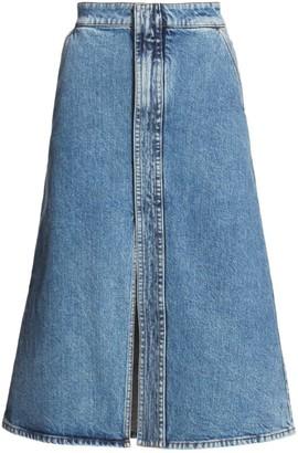 Stella McCartney A-Line Denim Midi Skirt