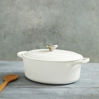 The White Company Le Creuset Oval Casserole Dish - 27cm, White, One Size