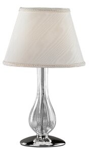 """Leucos Cheope 17"""" Table Lamp Base Color: Chrome, Shade Color: Transparent"""