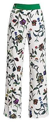Derek Lam 10 Crosby Women's Floral Silk Track Pants