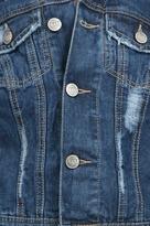 Free People Ripped Rugged Denim Jacket in True Blue