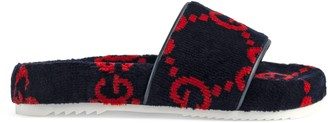 Gucci Children's GG terry cloth slide