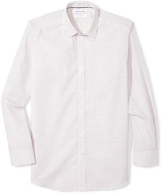 Amazon Essentials Men's Regular-Fit Wrinkle-Resistant Long-Sleeve Plaid Dress Shirt