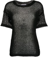 Snobby Sheep sheer sequin-embellished top