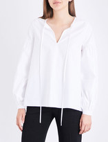 Co Keyhole cotton shirt