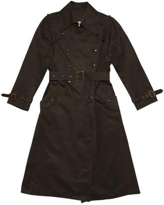 Saint Laurent Brown Cotton Trench Coat for Women Vintage
