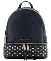 Michael Kors Blue Leather Backpack