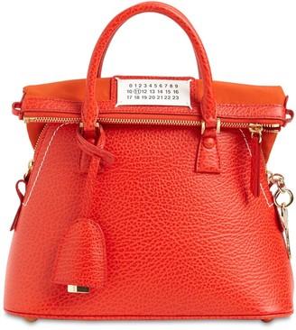Maison Margiela Mini 5ac Grained Leather Bag