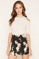 Forever 21 FOREVER 21+ Floral Crepe Mini Skirt