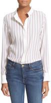 Frame Le Classic Striped Silk Blouse