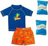 Jump N Splash Toddler Boy's Croc Waves TwoPiece Rashguard Set w/ Free Floaties (2T-3T) - 8143082
