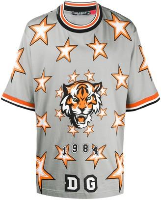 Dolce & Gabbana tiger star-print T-shirt