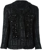 Simone Rocha embellished tweed jacket - women - Acrylic/Nylon/Polyester/Wool - 8