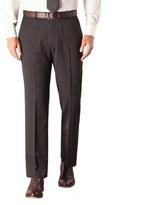 Karl Jackson Black Stripe Plain Front Regular Fit Washable Suit Trouser