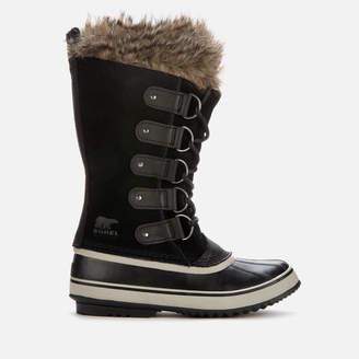 Sorel Women's Joan Of Arctic Waterproof Suede Knee High Winter Boots - Black/Quarry