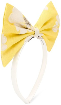 Hucklebones London Oversized Bow Floral Print Headband