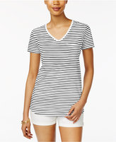 Style&Co. Style & Co Striped T-Shirt, Only at Macy's