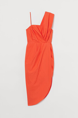 H&M Draped Dress - Orange