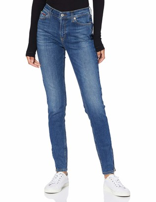 Tommy Jeans Women's Nora Mr Skinny Ankle Zip Ady Straight Jeans