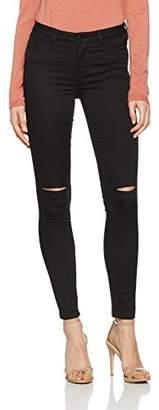 Vero Moda Women's VMFLEX-IT NW Super Slim Knee Cut Jegging Trousers, Black, 34W x 30L (Size of : XS)
