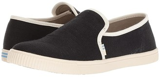 Toms Clemente (Black Heritage Canvas) Women's Slip on Shoes