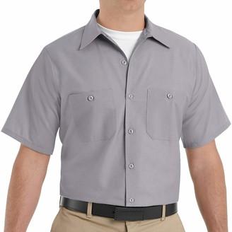 Red Kap Men's Standard Industrial Work Shirt Regular Fit Short Sleeve