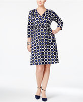 INC International Concepts Plus Size Printed Wrap Dress, Only at Macy's