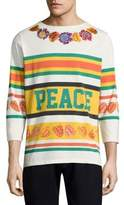 Paul Smith Three-Quarter Embroidered Tee