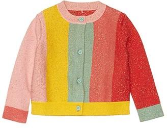 Stella McCartney Kids Lurex Striped Cardigan Early (Infant) (Multi) Girl's Clothing