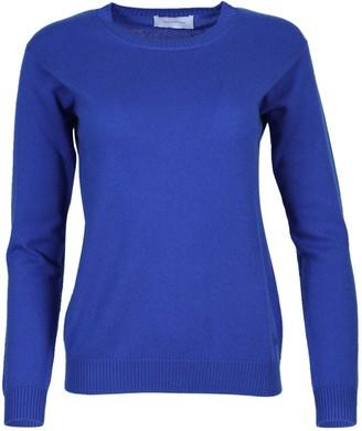 ALEXANDRA GOLOVANOFF Virgile Cashmere Crew Neck Sweater Blue