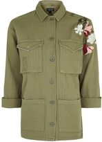 Topshop TALL Embroidered Shacket