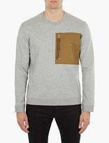 Valentino Grey Contrasting Pocket Sweatshirt