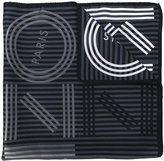 Kenzo striped logo scarf - women - Silk - One Size
