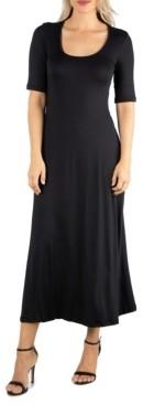 24seven Comfort Apparel Women's Casual Maxi Dress