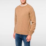 Paul Smith Men's Camel Merino-Wool Raglan Knitted Sweater