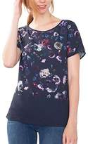 Esprit Women's 086EO1K011 T-Shirt, Multicoloured (NAVY)
