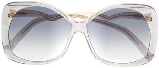 Emmanuelle Khanh Oversized Gradient Lense Sunglasses