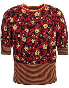 Proenza Schouler Floral-print Jacquard-knit Silk-blend Sweater
