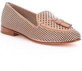 Antonio Melani Saddie Perforated Leather Tassel Detail Slip-On Moccasins