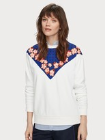 Scotch & Soda Printed Panel Sweatshirt | Women