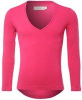 Zbrandy Men's V Neck T Shirts Fitness Solid Cotton Basic Tees Color Size M