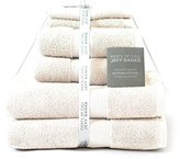 Jeff Banks Pure Cotton Supersoft Contemporary Towels, 6-Piece - Cream