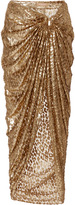Michael Kors Metallic Sarong Skirt