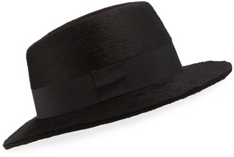 Saint Laurent Men's Rabbit Felt Fedora Hat