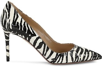 Aquazzura Purist Tiger Snake Leather Pumps