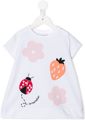 Simonetta ladybug print T-shirt dress