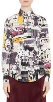 Prada Car-Print Poplin Shirt