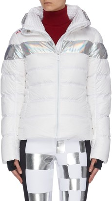 Rossignol 'Hiver' holographic stripe down ski jacket