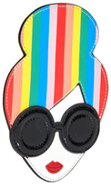 Alice + Olivia Rainbow Print Staceface Credit Card Case
