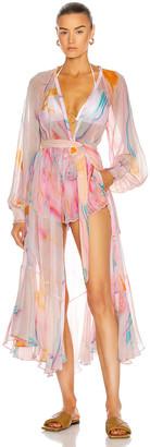 Rococo Sand Davina Robe Dress in Pink | FWRD